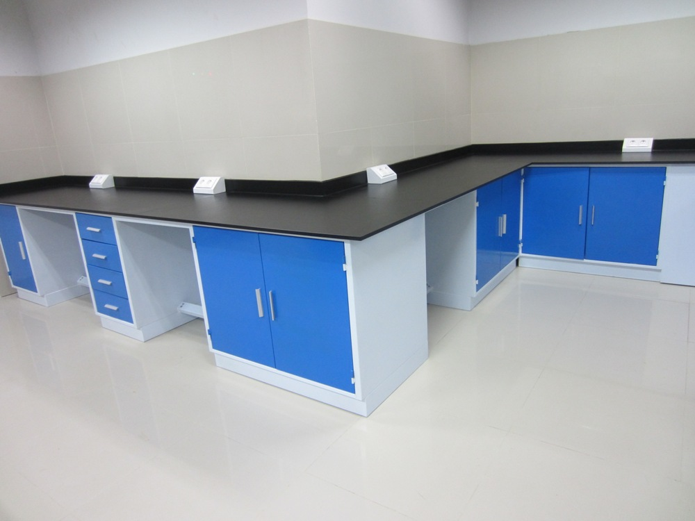 Wall Bench Base On Steel Structure Laboratory Furniture